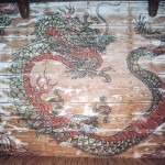 旧大仏殿に描かれてあった天井龍